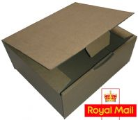 Royal Mail Small Parcel 250x200x100mm Postage Box 25 Pack - High Quality Die Cut
